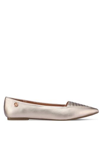Bata gold Pointed Toe Flats 1AADCSHF6FC06FGS_1