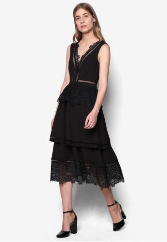 Libbyesprit官網 鉤針蕾絲層次無袖洋裝, 服飾, 洋裝