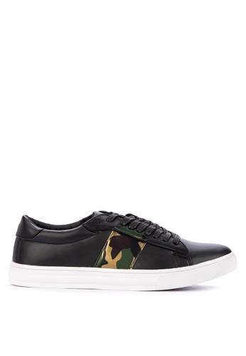 BENCH black Camo Detail Sneakers FD21DSH3B5C80CGS_1