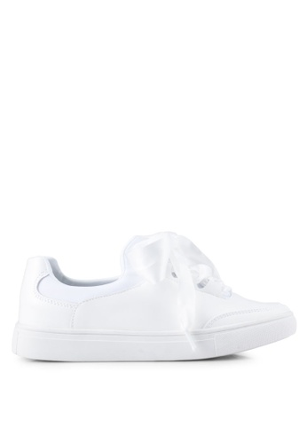 addicts anonymous white Madison Satin Ribbon Classic Sneakers AD479SH0SR5SMY_1