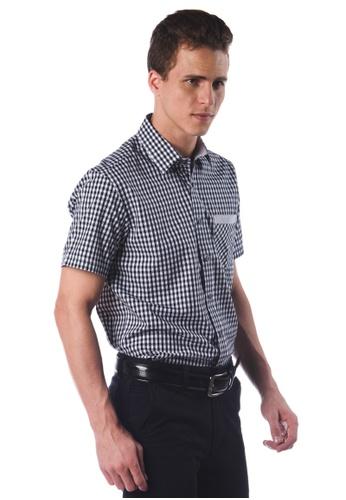 POLO HAUS black Polo Haus - Short Sleeve Shirt (Black White) PO783AA89JNQMY_1
