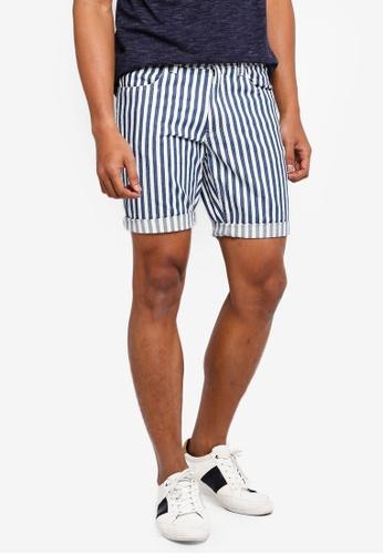 OVS 多色 條紋短褲 B6C02AADC50EABGS_1