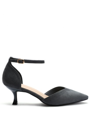 Twenty Eight Shoes 尖頭絨面高踭鞋052-2 B4620SH3C42C54GS_1