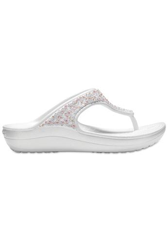 9e67ce876c Crocs Women s Crocs Sloane Embellished Flip Oys Multi 9E0BASH81B3723GS 1