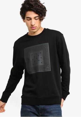 Calvin Klein 黑色 Relaxed LOGO圓領Pullover D8171AA0451747GS_1