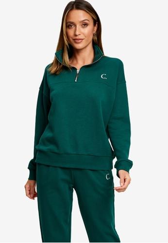 Calli green Classic Zip Sweatshirt 4738EAA89F8B2CGS_1