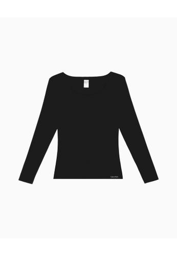 Calvin Klein black Calvin Klein Warmwear Newness Sleep Top 7DD1CAA75F2C6DGS_1
