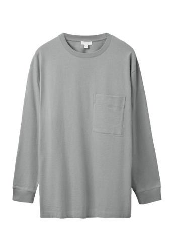 COS grey Relaxed-Fit Long-Sleeve T-Shirt 41A2BAAAA72659GS_1