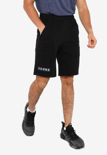361° black Cross Training Knit Knee Shorts F4F32AAC433FE4GS_1