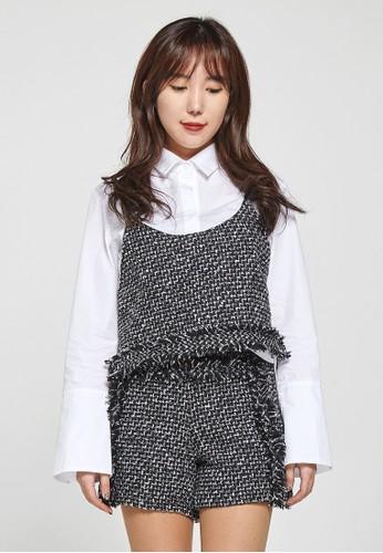 韓流時尚 花呢緊身胸衣 F40esprit 香港03, 服飾, 上衣