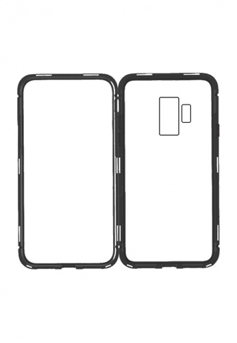 MobileHub black Samsung S9 Plus 360 Degree Magnetic Metal Bumper Case 53BD2ACECF7D0DGS_1