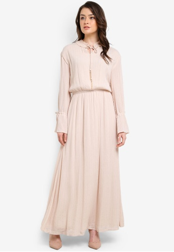Zalia beige Peasant Dress 394F5AA4AB4C16GS_1