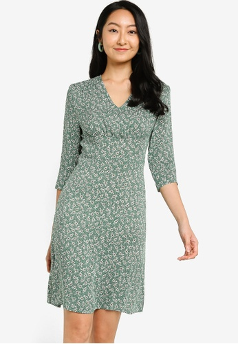 ZALORA BASICS 多色 Long Sleeve Mini Tea Dress C13DFAA525E16AGS_1