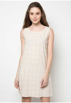 Checkered Sleeveless Dress