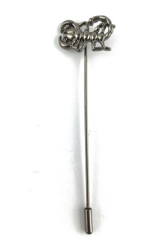 Splice Cufflinks silver Gunmetal Grey Scorpion Lapel Pin SP744AC06FANSG_1