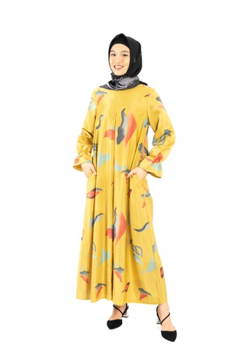 Heart n Feel Muslim yellow Muslimah Dress Heart N Feel E013EAAB708D65GS_1