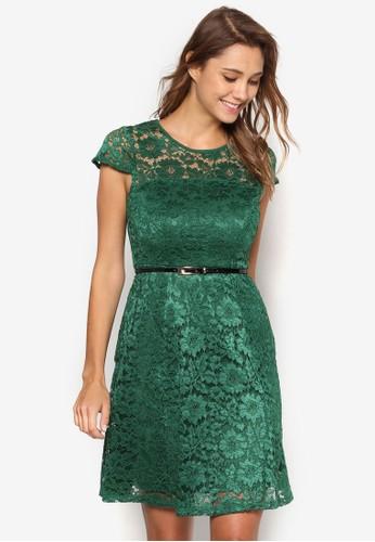 蕾絲腰esprit retail帶連身裙, 服飾, 洋裝