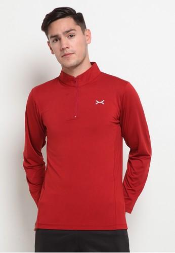 Flexzone red FLEXZONE Long Sports Jersey Ascend Series Maroon 54D85AA3897992GS_1