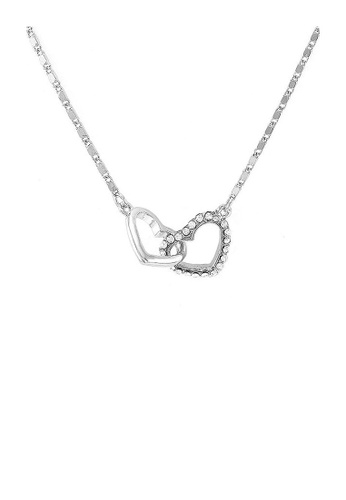 Glamorousky silver Glistering Heart Necklace with Sliver Austrian Element Crystal and Necklace 14C34AC1427AA3GS_1