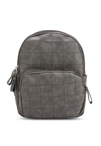 復古格紋仿皮後背包、 包、 包Bagstationz復古格紋仿皮後背包最新折價