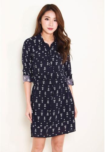 Leline Style blue Leann Prints Dress LE802AA0FV75SG_1