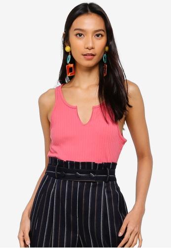 b1590534fe030 Buy TOPSHOP Pink Notch Vest Online on ZALORA Singapore