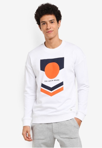 ESPRIT white Long Sleeve Sweatshirt 9D093AA237AD49GS_1