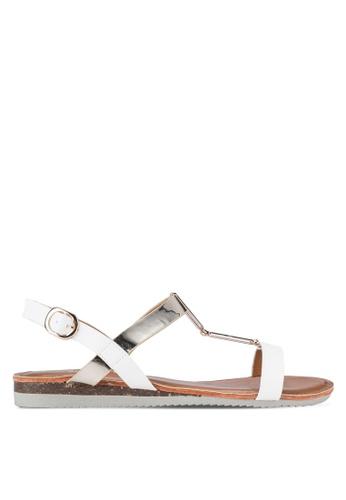 DMK white Buckled Flat Sandals DM860SH20CBJMY_1