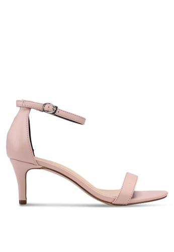 Velvet pink Ankle Strap Heels 6FCAFSHD92C18EGS_1