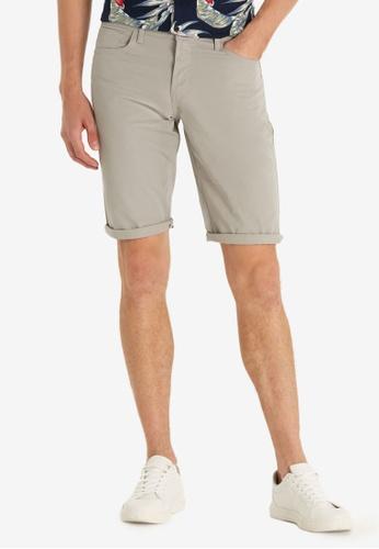 LC Waikiki grey Regular Fit Gabardine Bermuda Shorts ECE3BAAD62C0B3GS_1