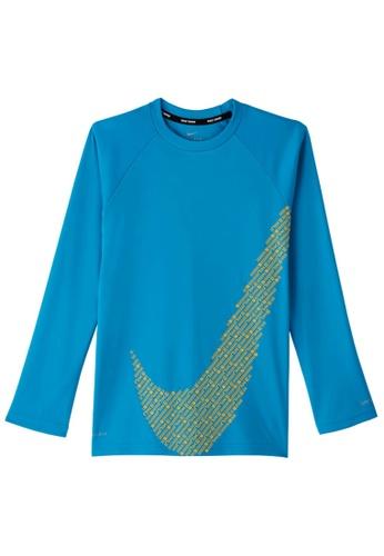 Nike blue Nike Boy's Nike Matrix Swoosh Long Sleeve Hydroguard 9CFACAA5743929GS_1
