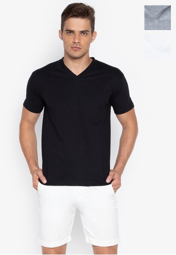 Sunjoy multi V-Neck T-Shirt (Bundle Of 3) 9E85CUS476B3A9GS_1