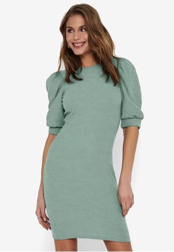 ONLY green Nella 2/4 Puff Dress 7201CAA1665C87GS_1