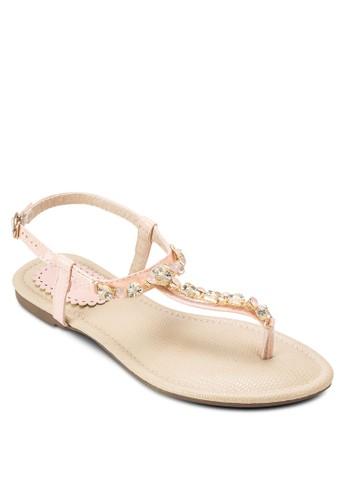 寶石繞踝涼鞋, 女鞋,esprit官網 鞋