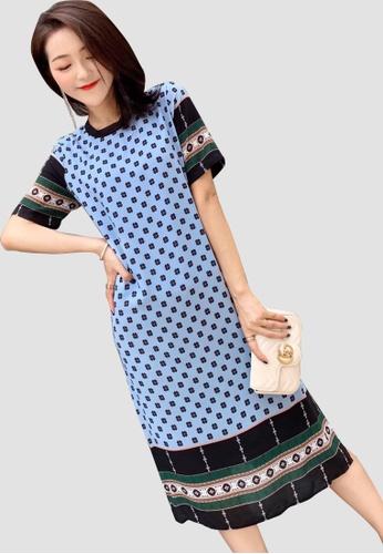 Miss M multi Multi Vintage Print Elegant Dress 5EE04AA0DB6BD8GS_1