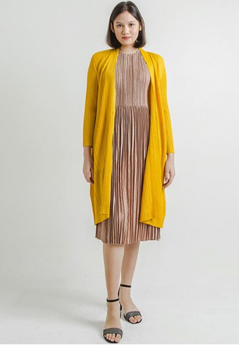 THE GOODS DEPT yellow LIPAT - Elena Basic Pleated Outers Yellow 51650AA00131B1GS_1