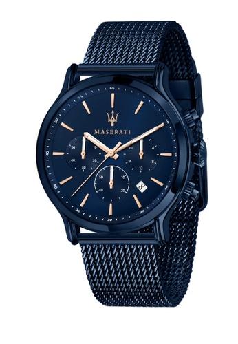 Maserati blue Maserati Blue Edition 42mm Blue Dial Chronograph Men's Quartz Watch R8873618010 EDC15AC0767938GS_1