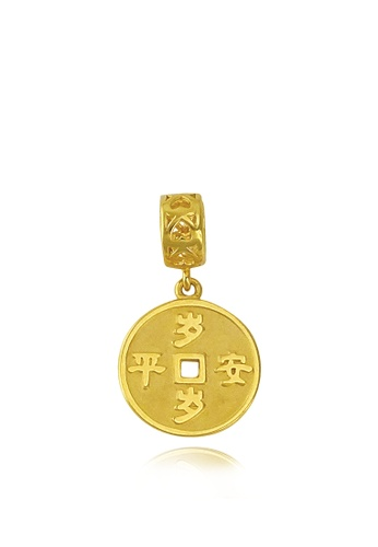 TOMEI gold [TOMEI Online Exclusive] Everlasting Peace Coin Charm, Yellow Gold 916 with Complimentary Red Bracelet (TM-YG0647P-1C) (2.27G) 004E1AC7599372GS_1