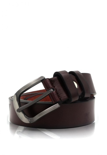 Attraxion Men's and Accessories brown Attraxion Carlton 09 Leather Belt AT259AC0JG8QPH_1
