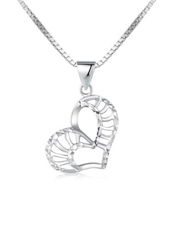 MaBelle silver 14K/585 White Color Gold Hearts Pendant Necklace 49BD0AC283643FGS_1