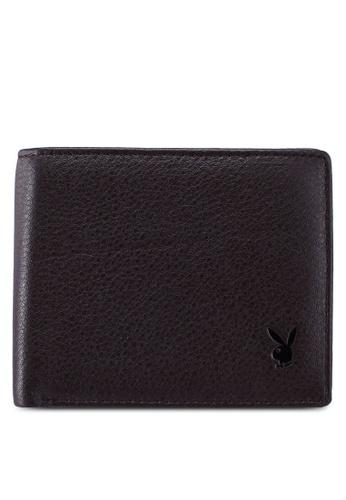 Playboy brown Faux Leather Rfid Blocking Wallet 5EDBDACBC4C077GS_1