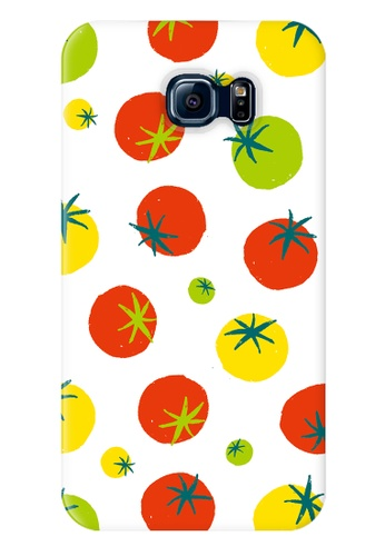 Wonder Cover orange and green and multi Tomatoes Hard Case for Samsung Galaxy S6 WO617AC61SOOPH_1