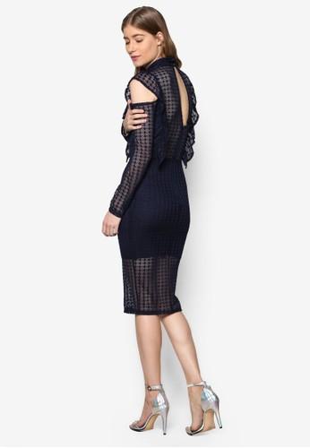 Lizesprit outlet 旺角ea 蕾絲挖肩高領洋裝, 服飾, 服飾
