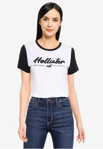 Hollister white Secondary Tech Core Tee BB200AAE6BC09BGS_1