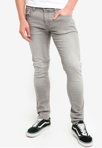 Indicode Jeans grey Pittsburgh Skinny Fit Stone Washed Jeans 57BCEAADCB87E8GS_1