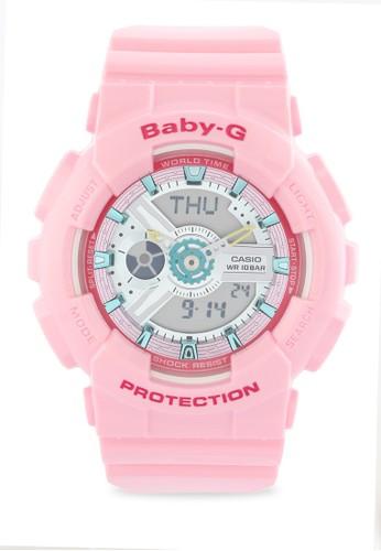 Baby-G pink Casio BABY-G Jam Tangan Wanita - Pink - Resin - BA-110CA-4ADR 229F2ACB3284FFGS_1
