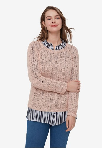 OVS pink Plus Size Knitted Pullover D9657AAD7BA1DDGS_1