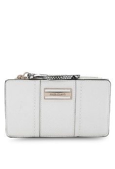 Zip Top Panelled Purse