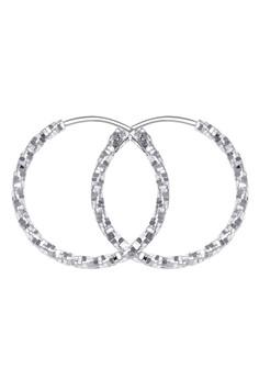 Tone Textured Loop Earring
