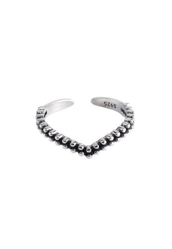 A-Excellence silver Premium S925 Sliver Geometric Ring CF867AC9DA70A5GS_1